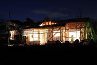 上棟時の夜景 記念撮影