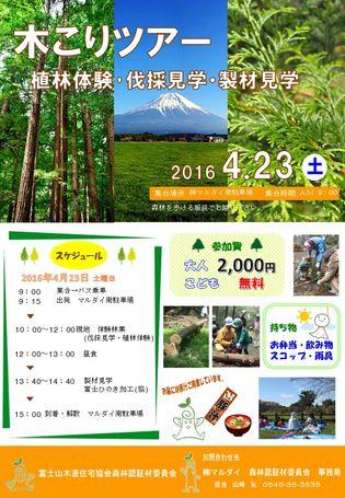 木こりツアー開催